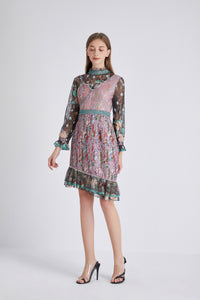 Love on the line Patchwork dress