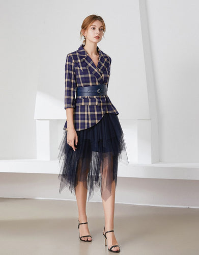 Check it out Blazer and Tulle skirt dress with belt