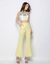 Load image into Gallery viewer, Lemon Sherbet Sixties Embellished Co- Ord