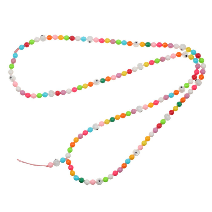 Rainbow Beaded Phone Chain