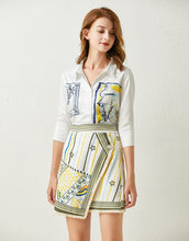 Load image into Gallery viewer, 'The Artist Sketch' cotton shirt and asymmetric skirt set