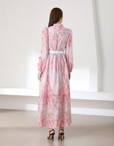 You give me butterflies pink maxi dress