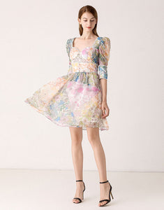 Oh so blooming lovely mini dress