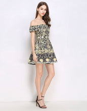 Load image into Gallery viewer, Floral Daze Bardot skater dress