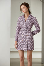 Load image into Gallery viewer, Light Pink Diamond Tile Blazer dress