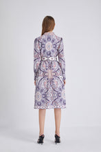 Load image into Gallery viewer, Purple Paisley Montage maxi dress