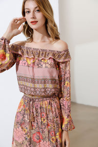 'Rustic Rose' Bardot two piece