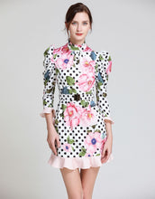 Load image into Gallery viewer, Dot To Dot Rose Mini Dress