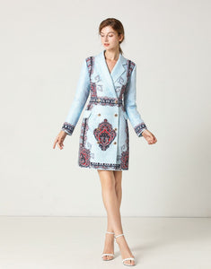 Blue Pearl Blazer dress