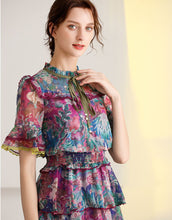 Load image into Gallery viewer, 'The Wildflower' short sleeve tiered midi dress