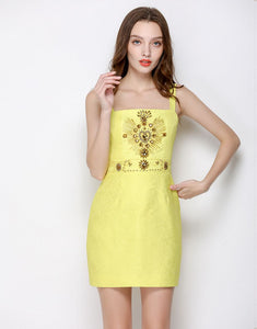 Sunshine Embellished Strappy Mini Dress *WAS £150*