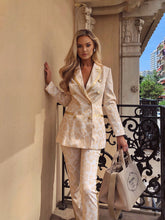 Load image into Gallery viewer, Cream & Gold Luxe Leopard print suit
