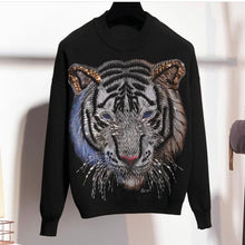 Load image into Gallery viewer, Tigers eyes black knitted set
