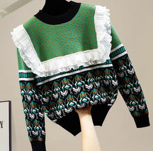 Load image into Gallery viewer, Oversized frill knitted jumper