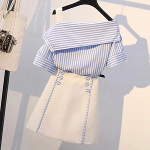 The cute set in stripes two piece set