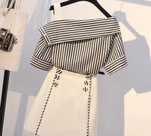 Load image into Gallery viewer, The cute set in stripes two piece set