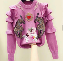 Load image into Gallery viewer, Wild at heart applique jumper