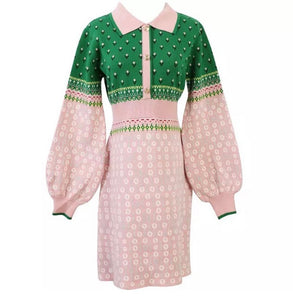 The Cherish me long sleeve knitted dress