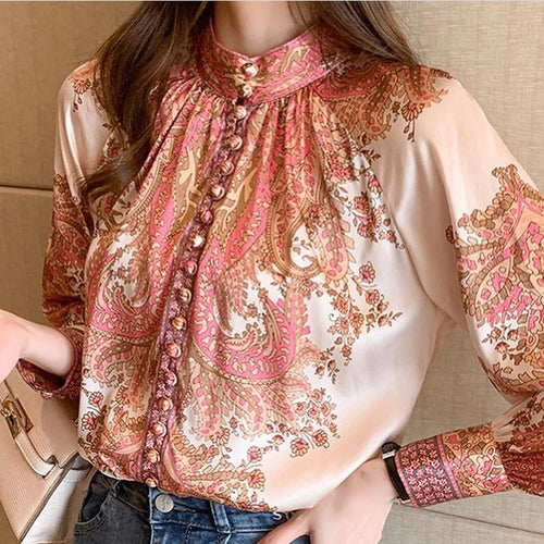 Silk Floral button up shirt