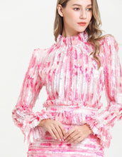 Load image into Gallery viewer, Candy Floss Pink high neck ruffle mini dress