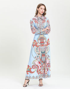 Sunset Paisley maxi dress