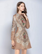 Load image into Gallery viewer, Rose Gold Skater Dress