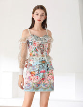Load image into Gallery viewer, Away with the fairies off shoulder two piece