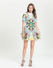Load image into Gallery viewer, Sun and star emblem skater dress