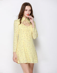 Citrine Ditsy Floral Collar Mini Dress *WAS £70*