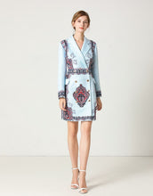 Load image into Gallery viewer, Blue Pearl Blazer dress *WAS £160*
