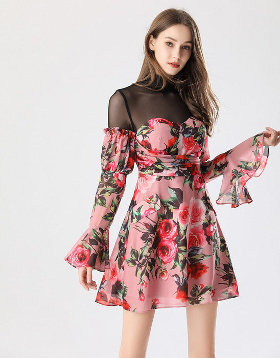 Everything's coming up roses mini dress