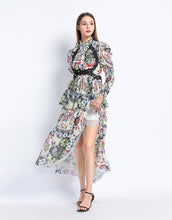 Load image into Gallery viewer, Floral blossom with lace maxi dress *WAS £185*