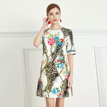 Load image into Gallery viewer, Inner animal short sleeve mini dress
