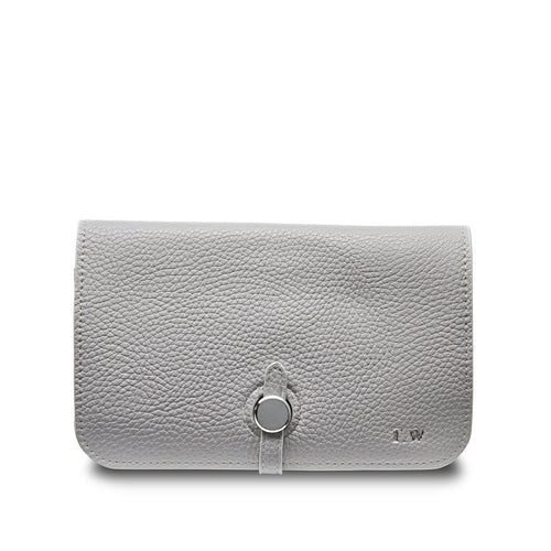 Stone Grey Travel Wallet THREESIXFIVE