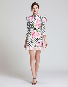 Dot To Dot Rose Mini Dress