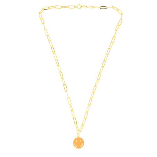 NEW! Happiness Necklace in Orange - TALIS CHAINS