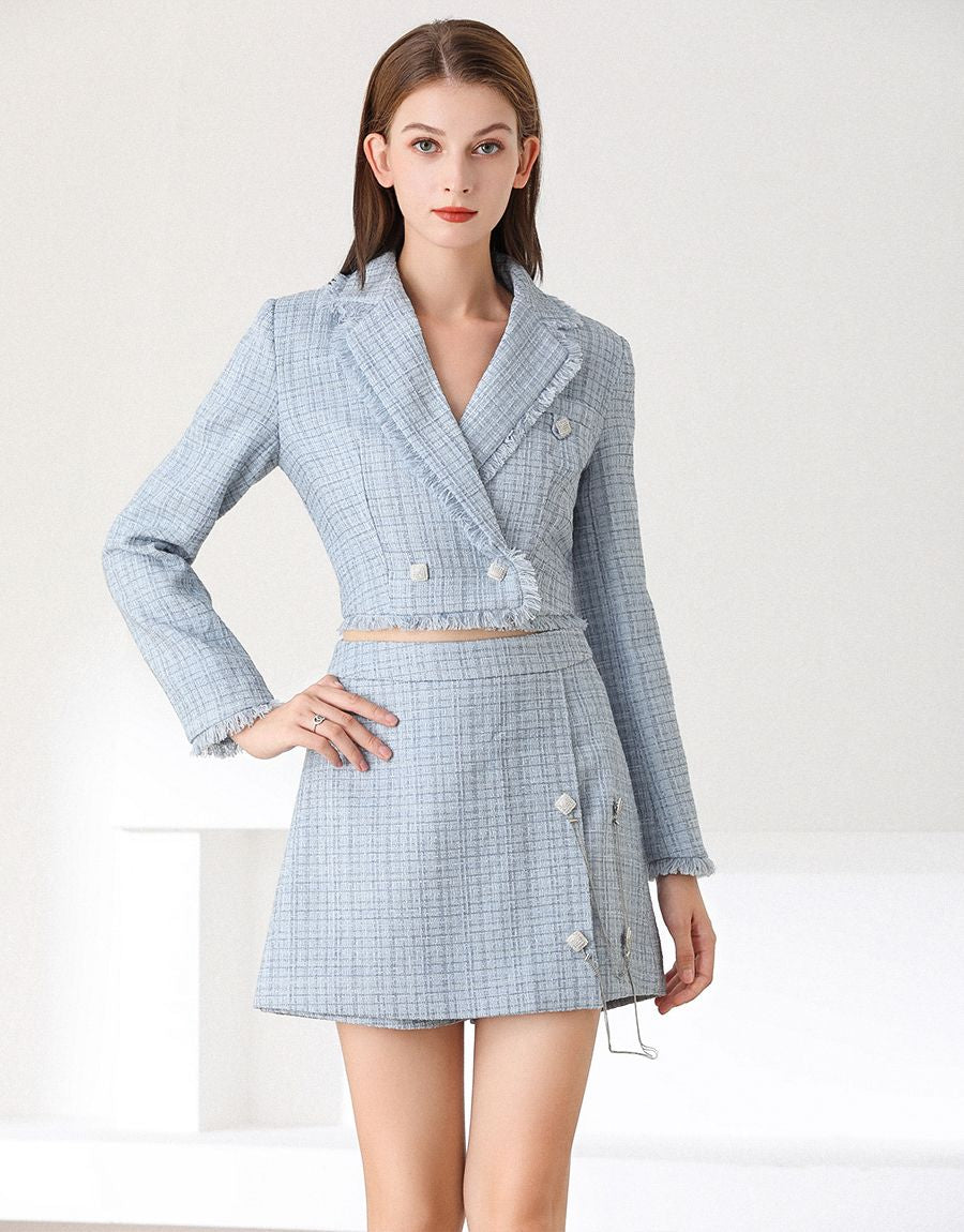 Out of the blue tweed set