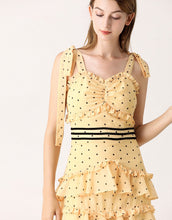 Load image into Gallery viewer, Mellow In Yellow Dotty Tiered Dress *WAS £145*