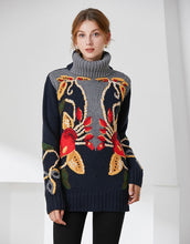 Load image into Gallery viewer, Festive Lily knitted Jumper