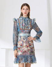 Load image into Gallery viewer, Floral Tapestry lace mini dress