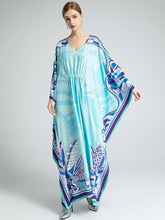 Load image into Gallery viewer, Oceanic Aqua Maxi dress