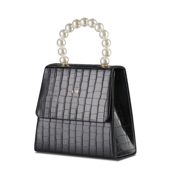 Black Pearl Drop Handbag THREESIXFIVE