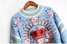 Load image into Gallery viewer, Crown of Love sky blue jumper
