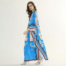 Load image into Gallery viewer, Azure Blossom Maxi Dress