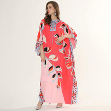 Load image into Gallery viewer, Coral Leaf Maxi dress