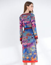 Load image into Gallery viewer, Birds in Paradise two- piece midi dress