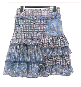 Daisy-chain patchwork two piece set