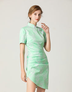 Mint Gathered Mini Dress *WAS £145*