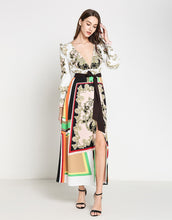 Load image into Gallery viewer, Regal Motif colour pop maxi dress