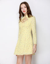 Load image into Gallery viewer, Citrine Ditsy Floral Collar Mini Dress *WAS £70*